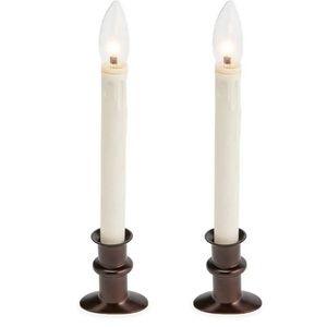 Plow & Hearth Window Hugger Candles Bronze, set 2